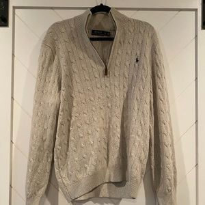 Ralph Lauren Cable Knit Half Zip XL/TG
